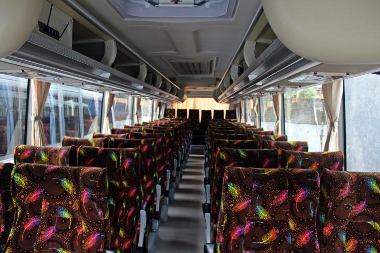 Interior Sewa Bus 47 Seat Bandung