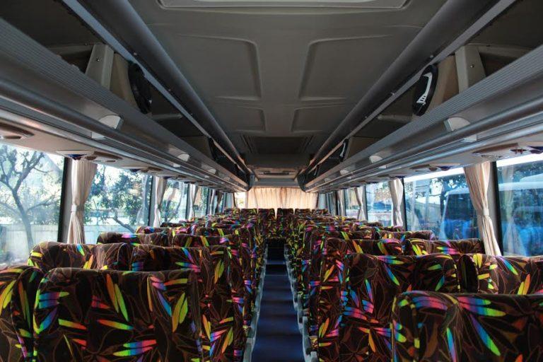 Interior Sewa Bus 50 Seat Bandung