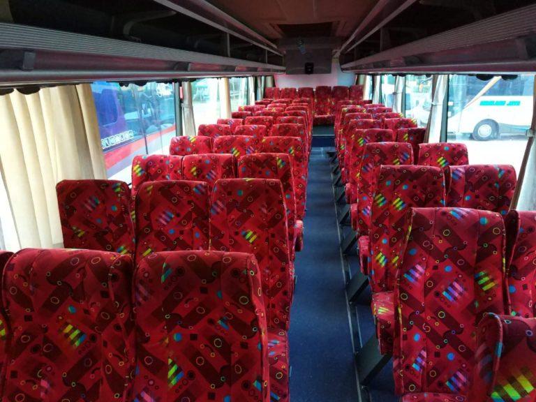 Interior Sewa Bus Pariwisata 59 Seat Bandung
